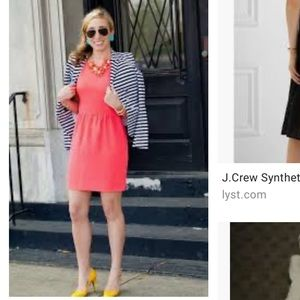J. Crew | Bright Coral Camille Dress